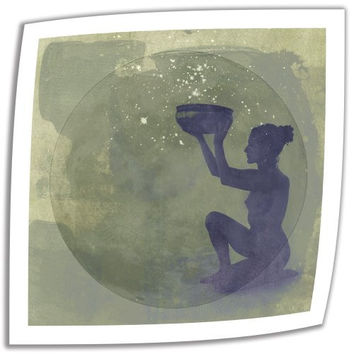 Art Wall Astral Goddess 18 by 18-Inch Unwrapped Canvas Art by Elena Ray with 2-Inch Accent Border