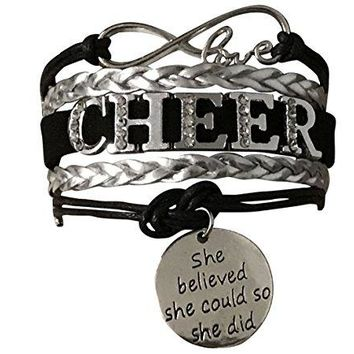 Cheer She Believed She Could so She Did Infinity Bracelet