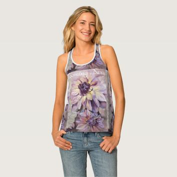 Stunning Dahlias Customizable Tank Top