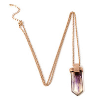Faux Crystal Pendant Necklace