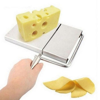 Cheese Slicer Cutter Board Stainless Steel Wire Cutting Kitchen Hand Tool HU