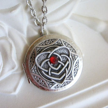 Heart, Locket, Silver Locket Necklace, Celtic Knot Jewelry, Silver Heart Locket, Irish Jewelry, Celtic Jewelry,Mother's Day,Heart Necklace x