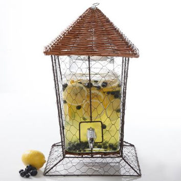 Glass Drink Dispenser Gibson Home Juice Basket