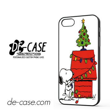 Snoopy Christmas Lights Tree For Iphone 5 Iphone 5S Case Phone Case Gift Present