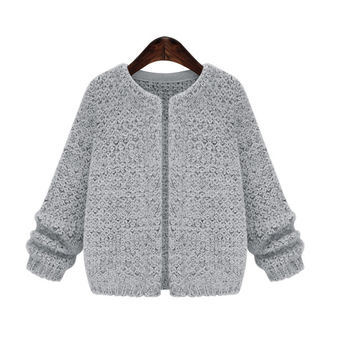Solid Color Sweater Cardigan