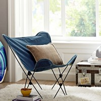 Enzyme Washed Denim Butterfly Chair
