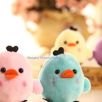 Kawaii NEW Little 6Colors- Bear Chicken , String Pendant Plush Stuffed TOY DOLL , Soft Plush Toys of Bouquet