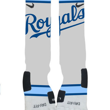Kansas City Royals - Major League Baseball - Custom Nike Elite Socks