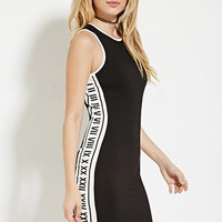 Roman Numerals Bodycon Dress