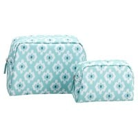 Travel Beauty Pouches, Set of 2, Bohemian Paisley