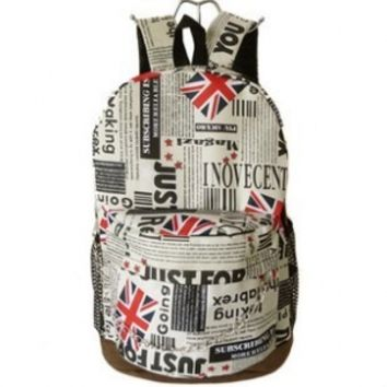 British Flag Backpacks Newspapers MapbackpacksBackpacks
