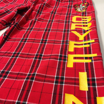 SALE Ladies Small Gryffindor Flannel Pant