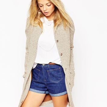 ASOS Longline Textured Jacket with Pockets