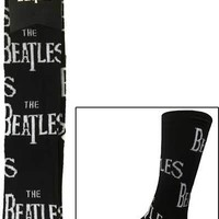 Beatles Adult Black Logo Socks