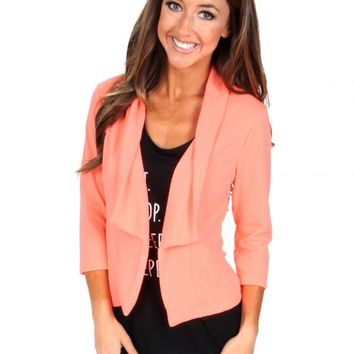Bring The Light Coral Blazer | Monday Dress Boutique