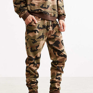 UO Camo Skinny Stacked Knit Jogger Pant | Urban Outfitters