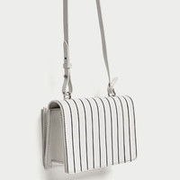 CONTRASTING STRIPES LEATHER CROSSBODY BAGDETAILS