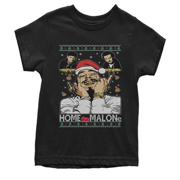 Home Malone Ugly Christmas Youth T-shirt