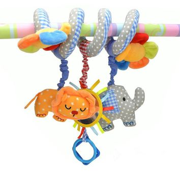 Baby Rattle Baby Crib Mobile Musical Baby Toys Brinquedos Bebes Elephant Lion Flower Bed Crib Hanging Stroller Pram Toys For Kid