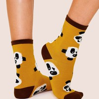 Panda Pattern Socks 1pair