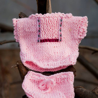 Pink Hand knit baby cardigan and Short pant, knitted baby vest, Baby sweater, Baby photo prop.