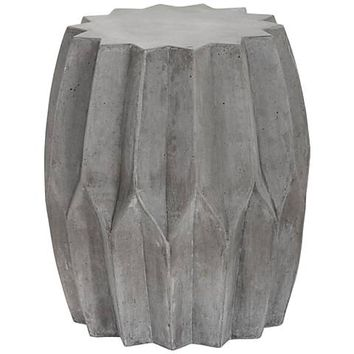 Rori Matte Charcoal Pleated Indoor-Outdoor Side Table - #9Y186 | Lamps Plus