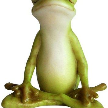 Yoga Frog Miniature Figurine Seated Lotus Pose 2.1H
