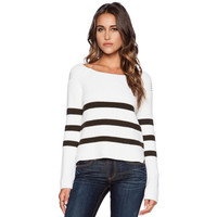 White and Blue Stripe Sweater