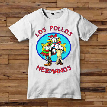 Los Pollos Hermanos Normal Breaking Bad black T shirt White Black Dsign t-shirt men S,M,L,XL