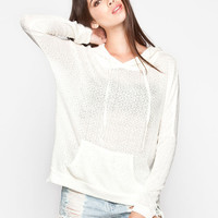 Full Tilt Essential Womens Heavenly Hoodie Cream  In Sizes