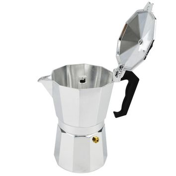 New Espresso Coffee Pots 3/6/9/12 Cups Maker Moka Espresso Cup Aluminum Moka Pot Machine Outdoor Three-chambered