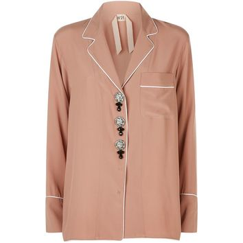 No. 21 Embellished Pyjama Shirt | Harrods.com