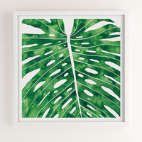 Living Pattern Monstera Art Print | Urban Outfitters