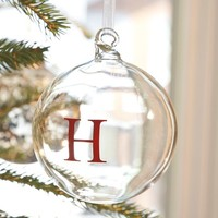 Monogrammable Glass Globe Ornament