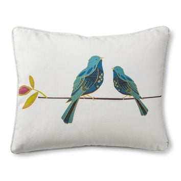 Mudhut™ Oddette Screen Print Bird Dec Pillow - Multicolor