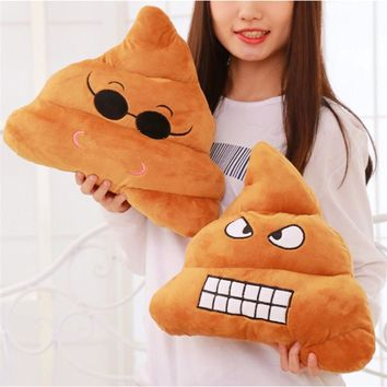 Emoji Poo Shaped Stuffed Plush Pillow Cushion Smiley Face Sofa Toy Doll Hot Sale