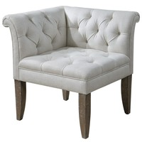 Tahtesa Corner Chair by Uttermost