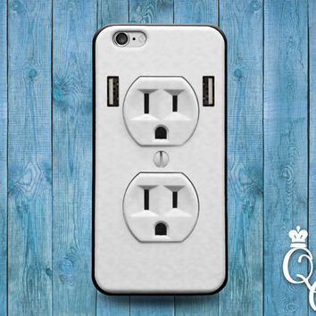 iPhone 4 4s 5 5s 5c 6 6s plus + iPod Touch 4th 5th 6th Generation Cute White Electrical Power Socket Joke Fun Phone Cover Cool Funny Case