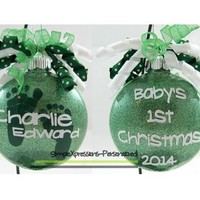 Baby's First Christmas Personalized Shatterproof Ornament from SimpleXpressions-Personalized!