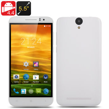 5.5 Inch Android 4.4 Smartphone - MTK6582 Quad Core 1.3GHz CPU, Mali400 GPU, 1280x720 IPS OGS Screen, Dual SIM, Hot Knot (white)