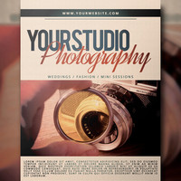 Photography Flyer PSD Template, Photography Marketing, Instant Download