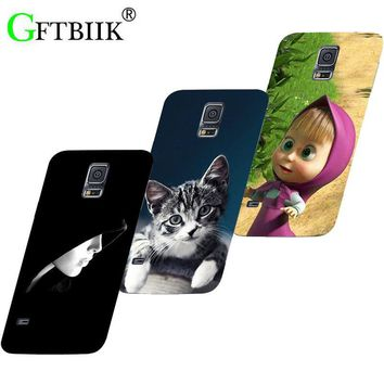 Hot Ultra Thin Back Cover For Samsung Galaxy S5 Mini G800 S5mini Protective Phone Case Dog Cat Fruits Cases