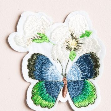 BUTTERFLY AND FLOWER PATCH