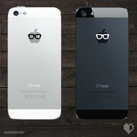 Geeky Glasses iPhone Decal / iPhone Sticker
