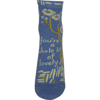 Whole Lotta Lovely Ankle Socks in Blue