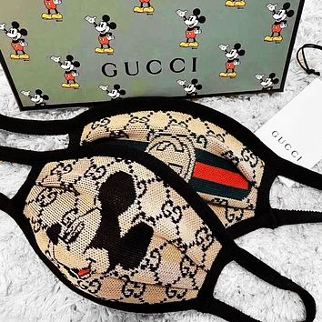 Gucci Burberry Comfortable Breathable Mickey Plaid Masks