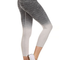 Yoga Capri Pants - Gray
