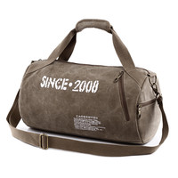 Canvas Sport Bag Training Gym Bag Men Woman Fitness Bags Durable Multifunction Handbag Outdoor Sporting Tote For Male UB-HAC057