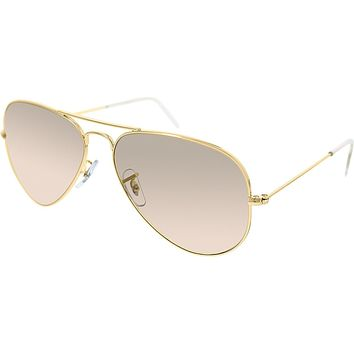Ray-ban Aviator Large Metal Sunglasses Arista/crystal Pink Silver Mirror L - Beauty Ticks