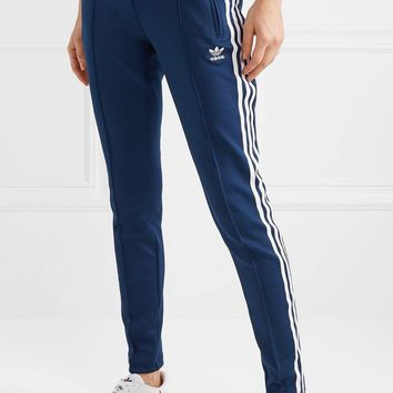 Adidas Originals Superstar Striped Satin-jersey Track Pants #90